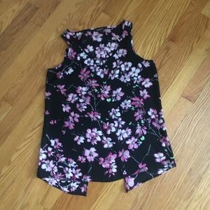 Express Small Floral Split Back Tank